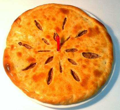 Осетинский пирог с мясом и картофелем